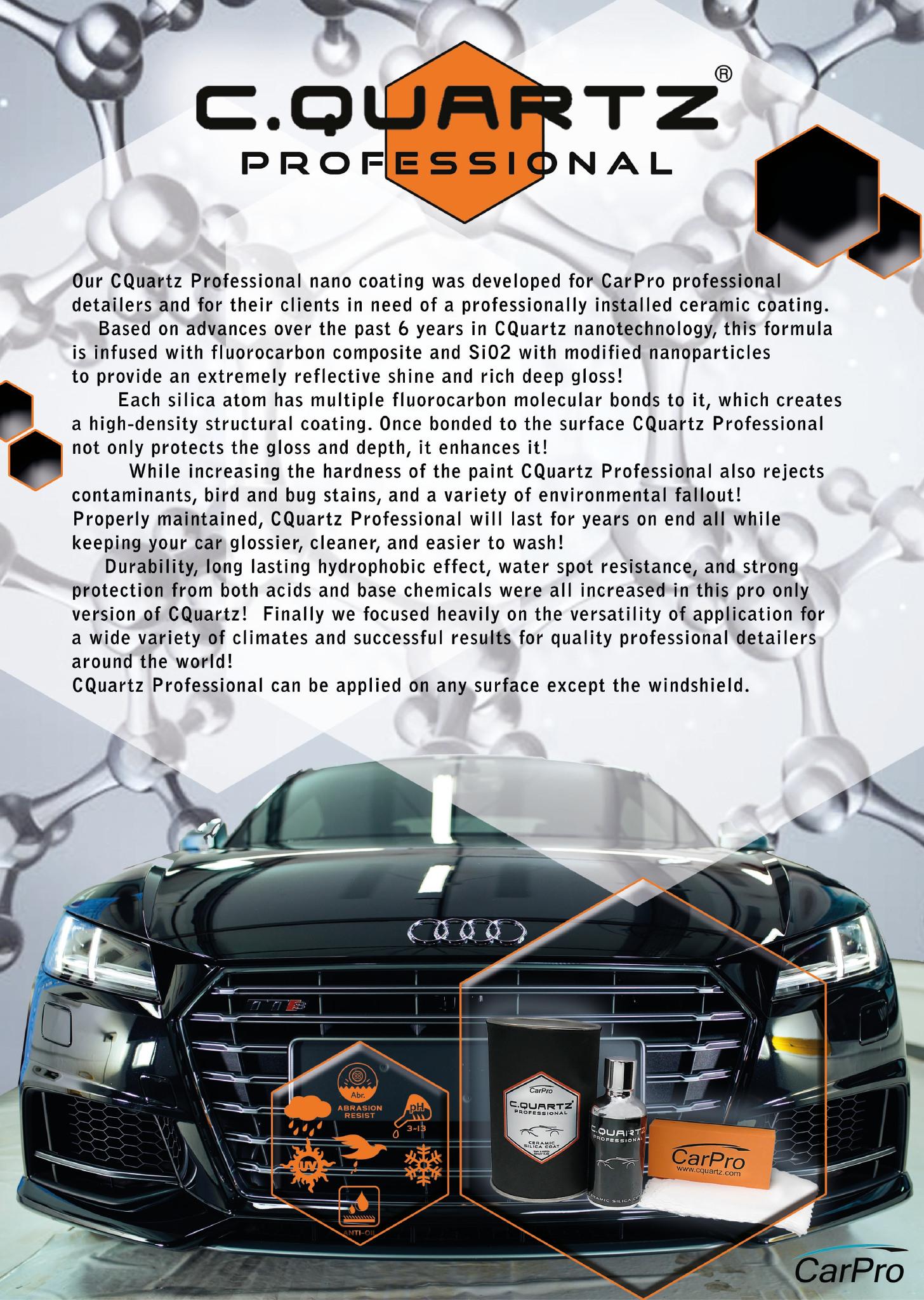 Rasky's Auto Detailing of Eden Prarie Minnesota proudly offers CQuartz-Professional-Ceramaic-Nano-Coating