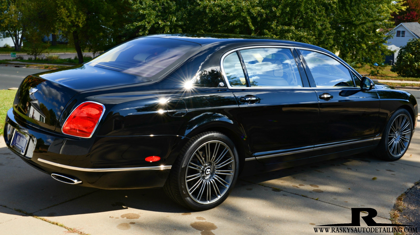 This Bentley Flying Spur glows int eh sun after a ceramic nano coating by Chad Raskovich