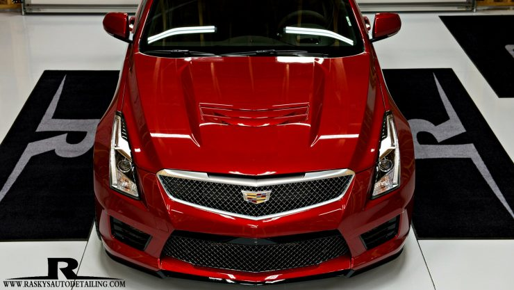 After Full Paint correction & cquarta Finest reserve ceramic coating by Raskys Auto Detailingthis Cadillac CTS-V is ready for a photo shoot or the track.