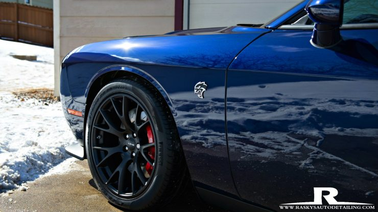 Paint Correction & a ceramic nano paint coating by Chad Raskovich of Minneapolis MN make this hellcat glow.