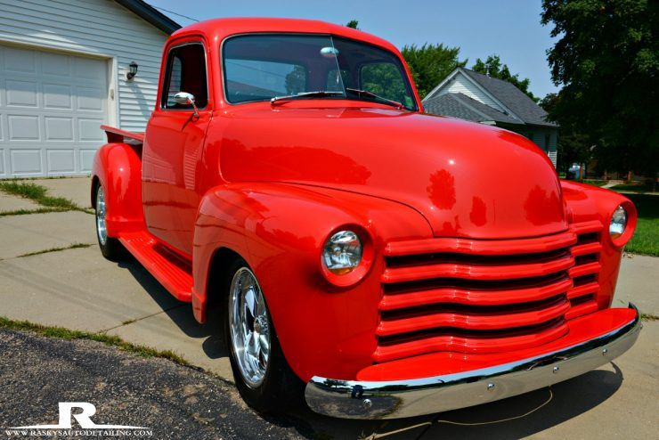 Chad Raskovich of Minneapolis Mn worked his paint correction magic on this 1952 Chevy Pickup to make her shine