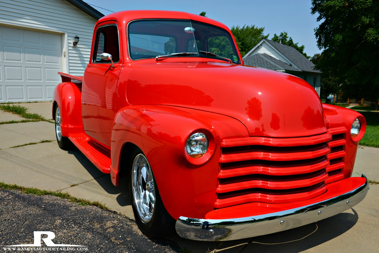 rasky 39 s auto detailing minneapolis this 1952 chevy truck had her beauty enhanced with paint. Black Bedroom Furniture Sets. Home Design Ideas