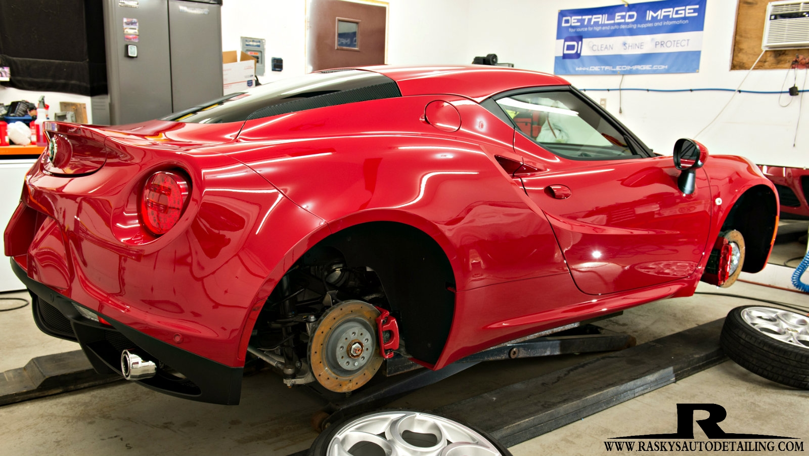 This Alfa Romeo 4C had the whole wheels off correction and ceramic nano coating treatment by Chad Raskovich in MInneapolis