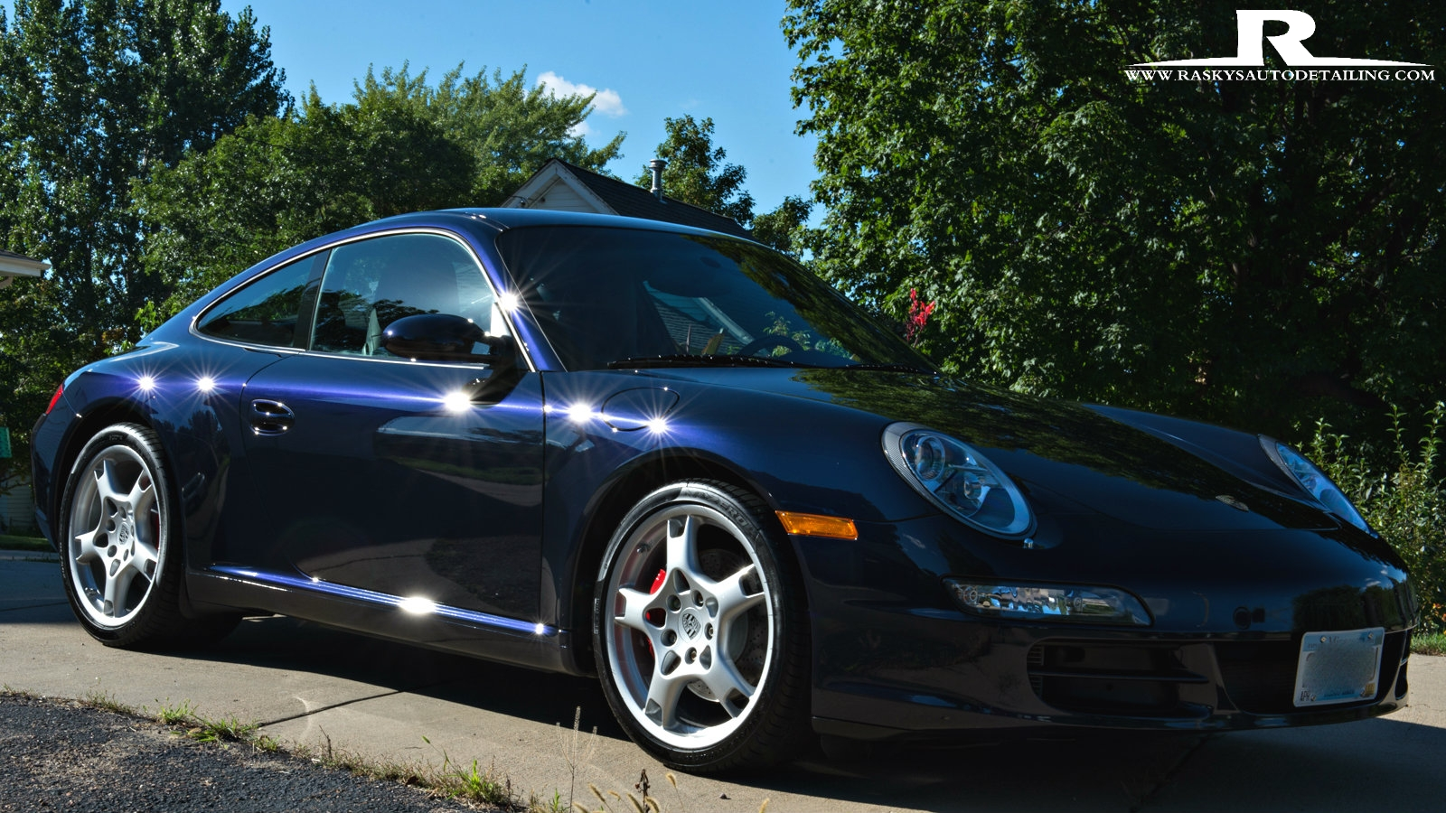 This Stunning 911 glows after Raskys Auto Detailing Minneapolis performed a full paint correction